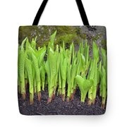 New Green Spring Shoots Tote Bag