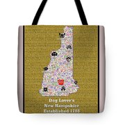 New Hampshire Loves Dogs Tote Bag