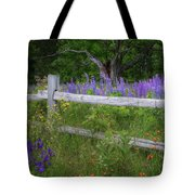New Hampshire Wildflowers Tote Bag
