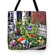 New Hope Pa - Garden Of Ceramic Mushrooms Tote Bag