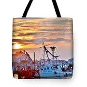 New Hope Sunrise - Sunken Ship At West Ocean City Harbor Tote Bag