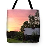 New Jersey Barn Sunset Tote Bag