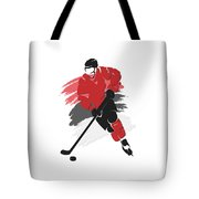 New Jersey Devils Player Shirt Tote Bag