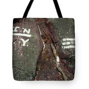 New Jersey New York State Line Of The Appalachian Trail Tote Bag