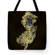 New Jersey Typographic Map 02 Tote Bag