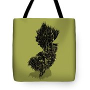 New Jersey Typographic Map 4a Tote Bag