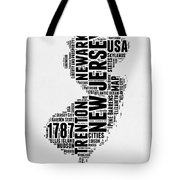 New Jersey Word Cloud 2 Tote Bag