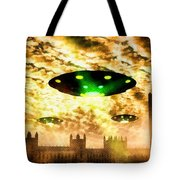 New London Government Arrives By Raphael Terra Tote Bag