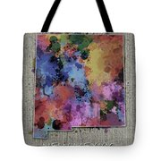 New Mexico Map Color Splatter 5 Tote Bag