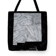 New Mexico Map Music Notes 2 Tote Bag