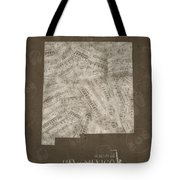 New Mexico Map Music Notes 3 Tote Bag