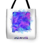 New Mexico Map Watercolor 2 Tote Bag