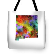 New Mexico Map Watercolor Tote Bag