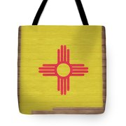 New Mexico Rustic Map On Wood Tote Bag