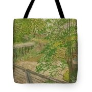 New Mills And Reflection Of Spring Tote Bag