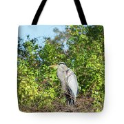 New Nest For Great Blue Heron Tote Bag