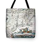 New Netherland Map Tote Bag