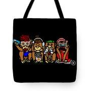 New No Evil Monkeys Tote Bag