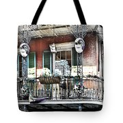 New Orlean's Balcony Tote Bag