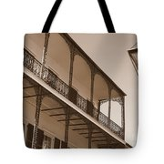 New Orleans Balcony With Lamp Tote Bag