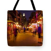 New Orleans, Bourbon Street At Night Tote Bag by Bryan Mullennix