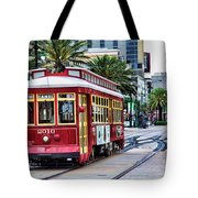 New Orleans Canal Streetcars  Tote Bag