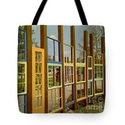 New Orleans Closed Door And A Window Of Many Views Tote Bag