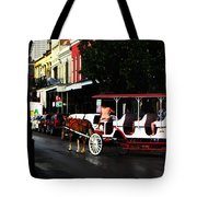 New Orleans Horse Carriage Tote Bag