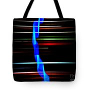 New Orleans Neon Christmas Frequency Abstract 2 Tote Bag