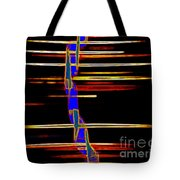 New Orleans Neon Frequency Native American Indan Abstract 3 Tote Bag