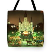 New Orleans Night Photo - Saint Louis Cathedral Tote Bag
