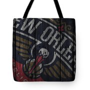 New Orleans Pelicans Wood Fence Tote Bag