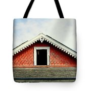 New Orleans Rooftop Architecture Fish Scales And Gingerbread Tote Bag