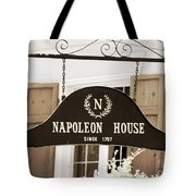 New Orleans Sign - Napoleon House - Sepia Tote Bag