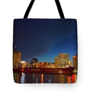 New Orleans Skyline At Night  Tote Bag