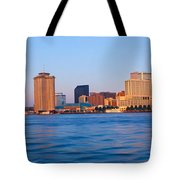New Orleans Skyline From Algiers Point Tote Bag