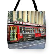 New Orleans Street Car Tote Bag