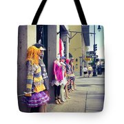 New Orleans Street Mannequins Tote Bag