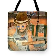 New Orleans Street Musician Tote Bag