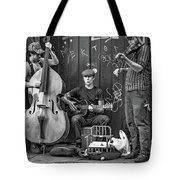 New Orleans Street Musicians Bw Tote Bag