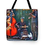 New Orleans Street Musicians Tote Bag