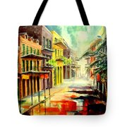 New Orleans Summer Rain Tote Bag