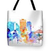 New Orleans Watercolor Skyline Tote Bag
