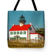 New Paint On East Point Lighthouse Tote Bag