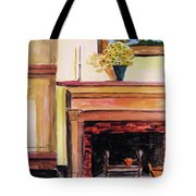 New Painting Over The Mantel Tote Bag