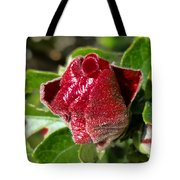 New Red Hibiscus Tote Bag