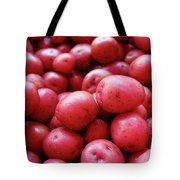 New Red Potatoes For Sale In A Market Tote Bag