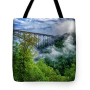 New River Gorge Bridge Morning  Tote Bag