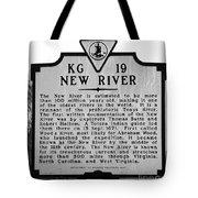 New River Historical Marker Tote Bag