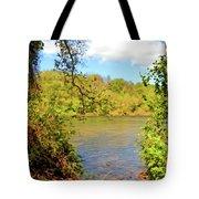 New River Views - Bisset Park - Radford Virginia Tote Bag